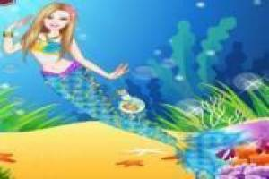 Dress up Barbie mit Mermaid Kleidung