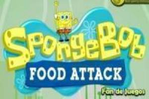 SpongeBob throws food