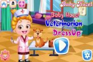 Baby Hazel dresses up as a veterinarian