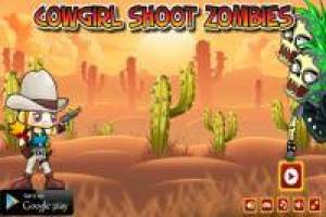Cowgirl shoots the zombies