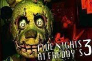 Gioco Five nights at freddy's 3 free Gratuito
