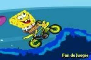 Spongebob in his new bike
