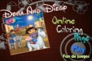 Dora the Explorer, Diego en Boots Coloring