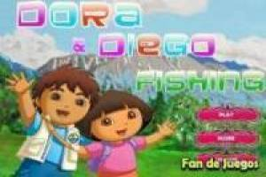 Free Dora the Explorer and Diego fishing Game