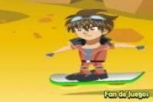 Bakugan on the flying board