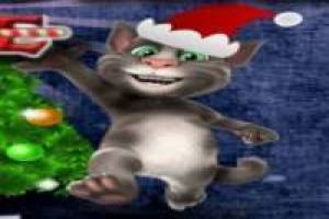 Talking Tom at Christmas