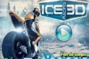 Motorcycle racing 3d snow