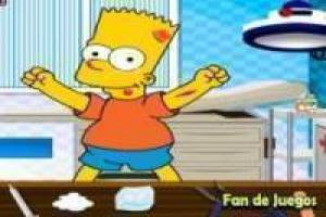 Bart Simpson en el hospital