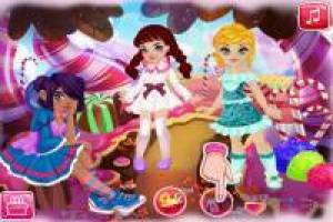 Dress up girls from candy country