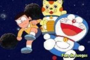 Puzzle: Doraemon and Novita in space