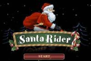 Santa Claus conduciendo moto