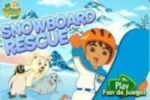 Free Diego to the rescue: snowboard Game