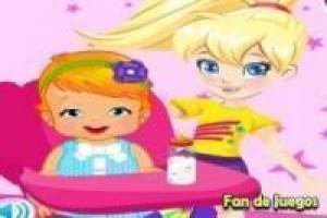 Juego Polly Pocket cuida de su hermana Gratis