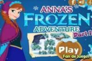 Anna de Frozen in an adventure game