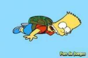 Bart Simpson escape from the island