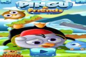 Pingu and his friends