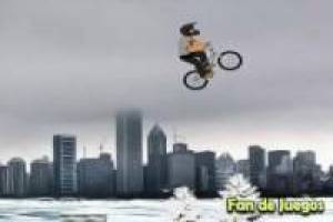 Bmx bike on snow