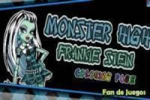 Juego Monster high frankie: colorear Gratis
