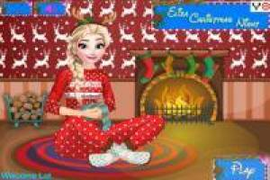 Dress up Elsa for Christmas