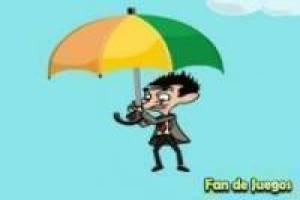 Mr.bean desciende por los aires