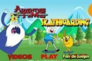 Adventure time skateboarding