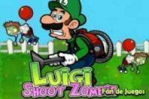 Luigi dispara a los zombies