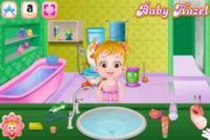 Clean the bathroom with Baby Hazel