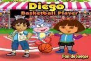 Diego plays basketball