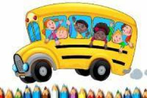 School Bus: Coloring Album