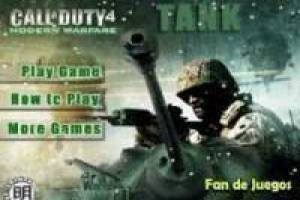 Juego Call of duty 4: tanques Gratis
