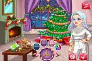 Decorate Crystal' s house for Christmas
