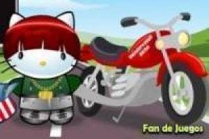 Vestir a la Hello Kitty motera