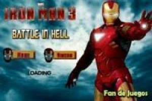 Iron man battle in hell