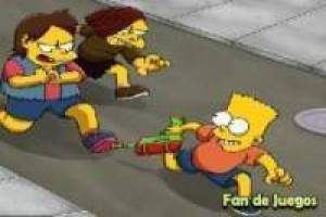Free Bart simpson shooter Game