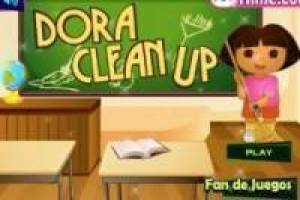 Free Dora clean school Game