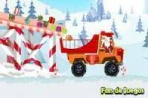 Santa claus transporta regalos