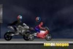 Batman vs spiderman: Les courses de moto