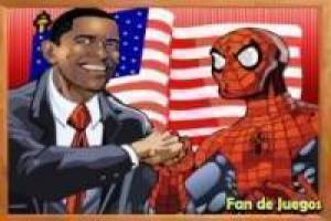 Free Spiderman vs obama: puzzles Game