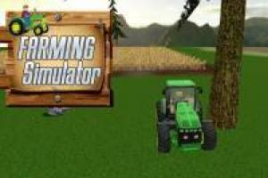 Drive Tractor on the Farm