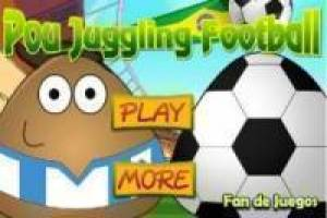 Pou playing football