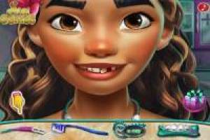 Moana visits the dentist