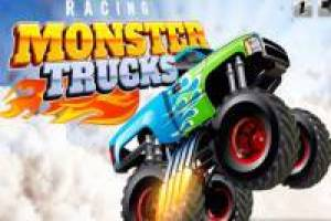 Race of monstrous trucks