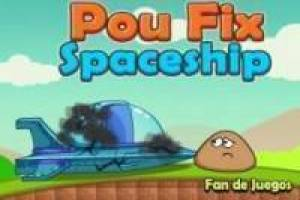Pou damaged spaceship