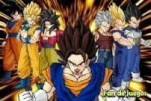Free Goku and Vegeta evolution puzzle fandejuegos Game