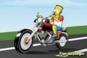 Free Bart Simpson on bikes Game