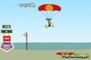 Daffy Duck parachuting