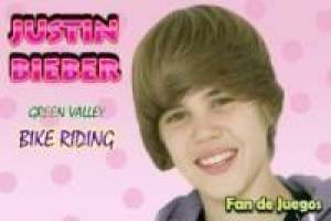 Free Justin Bieber on motorcycle Game