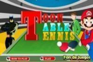 Tennis de mesa con los superhéroes