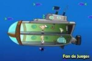 Phineas and Ferb in a submarine