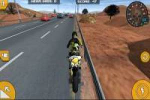 Bike stunt motorway
